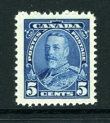 CANADA Scott 221 - NH - 5¢ Blue King George V Pictorial Issue (.063)