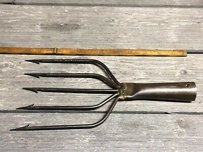 Vintage Trident Frog Gig Fish Gaff 5 Inch Made In Norway