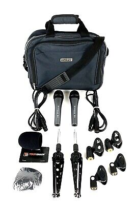 Sennheiser e835 Dynamic Cardioid Vocal Microphone Lot with XLR Cables Stands Bag