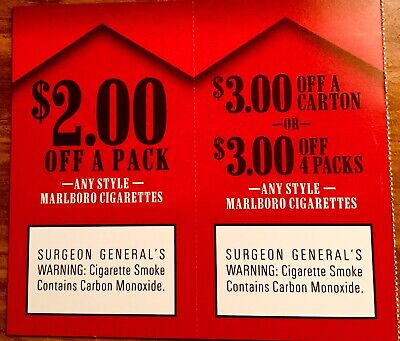 $5 Marlboro Cigarette Coupons Expire April 23, 2020.  See Pictures.