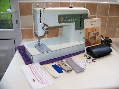 Singer  427 Z/Zag Heavy Duty Sewing Machine,Manual,Supple Leather,Serviced,