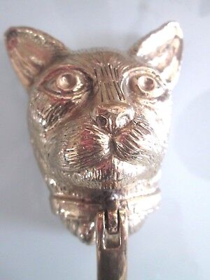 Solid Brass Cat head door knocker