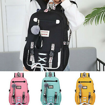 Large school bags for teenage girls usb with lock Anti theft backpack women