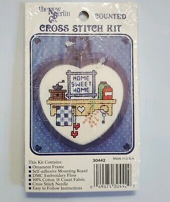 """New Berlin Co Counted Cross Stitch Kit """"Flowers Blossom"""" Lace Bookmark New"""