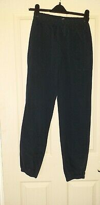 Boys Navy Jogging Bottoms Age 14 Years Ex Cond *M&S*