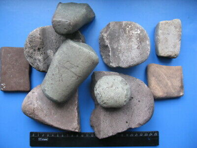 Neolithic & Paleolithic NEOLITHIC STONE GRINDING MILL AND RUBBING STONE