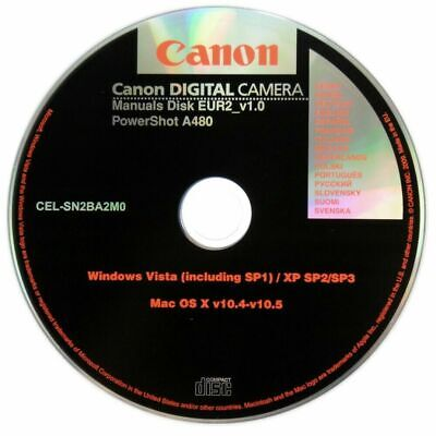 Canon Powershot A480 Operating Manual Instructions CD Disk