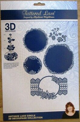 Tattered Lace Antique Lace Collection including CD with Artwork etc.