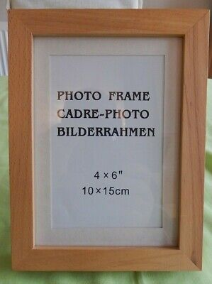 """Rectangular Natural Pine Photo Frame for 4"""" (10 cm) x 6"""" (15cm) Picture / Photo"""