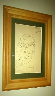 PICASSO original ink drawing on paper 1953 signed & dated of Dora Maar