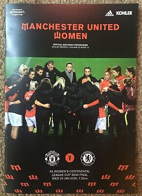 Manchester United Women v Chelsea (CC Cup S/F) - 29 January 2020