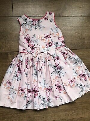 Ted Baker Baby Girls Pink Floral Sleevless Dress Size 18-24 Months