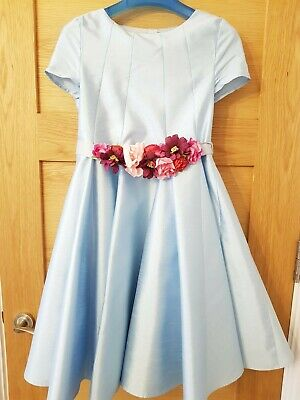 Monsoon Bridesmaid Page Girl Flower Dress Blue Age 10 Years