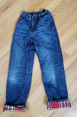 Gap Flannel Lined Jeans Boys Size 12