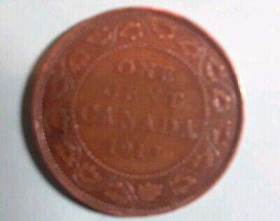 1913 Canada Bronze Large Cent King George V Coin