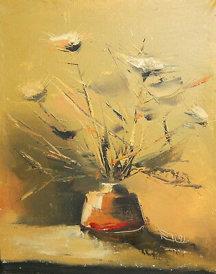 Impressionist Oil Painting Still Life Signed
