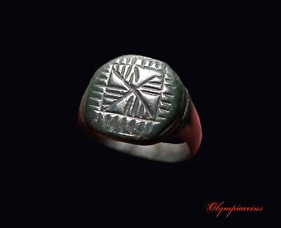 ** AMAZING  ** Ancient Roman Bronze LEGIONARY ring ** LEGIO X FRETENSIS  **