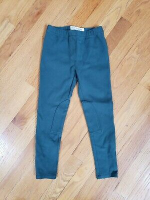Mini Boden Girls Pine green Jersey Riding pull on pants size 6YR