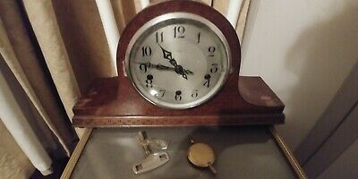 English Mantel Clock Art Deco Style