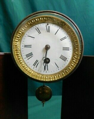 Antique Cylindrical Clock Movement inc. Pendulum - Face - Glass