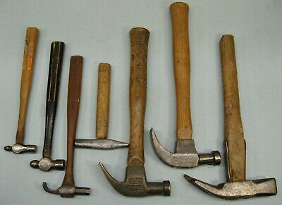7 Vintage Hammers Cheney, Blue Point, Ampco Non Sparking, Strapped, Mechanic
