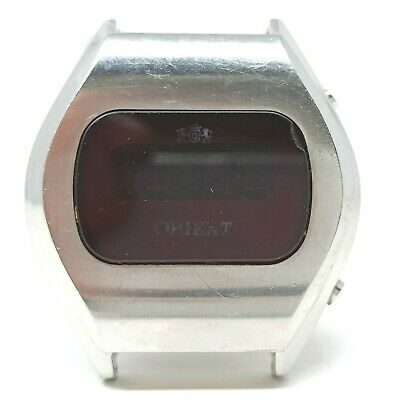 Orologio orient h680110 led rossi watch red leds clock rare vintage spare parts