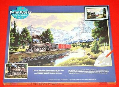 Dimensions Paintworks 91096 Paint by Number Kit Train Northern Rails New Sealed
