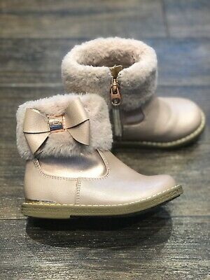 Beautiful Girls Pink/rose Gold Ted Baker boots size UK7/EUR24