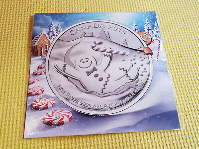 2015 CANADA $20 FINE SILVER GINGERBREAD MAN COMMEMORATIVE COIN IN PACKAGE!!!!