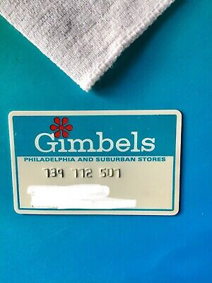 Vintage Gimbels department store credit card