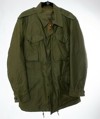 Vintage US Military Army Green Jacket M-1951 with Removable Liner Size Small