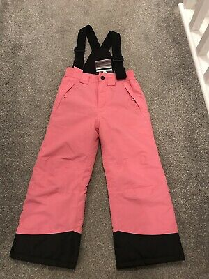Pink Ski Trousers/Sallopettes girls age 5-6. Brand New With Tags