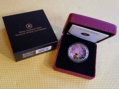 2012 Venetian Glass Aster and Bumble Bee - $20 Fine Silver Coin