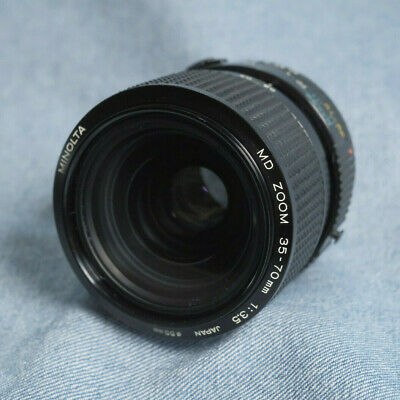 Minolta 35-70mm f/3.5 zoom lens with macro mode for MD mount (light fungus; CAB)