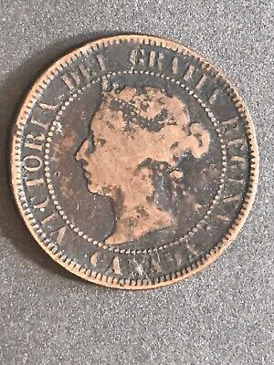 1888 Canada Large One Cent Coin 🇨🇦 Canadian 95% Copper Queen VICTORIA 👑