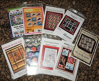 Asst Lot of (9) Quilt Quilting Patterns - New in Packages
