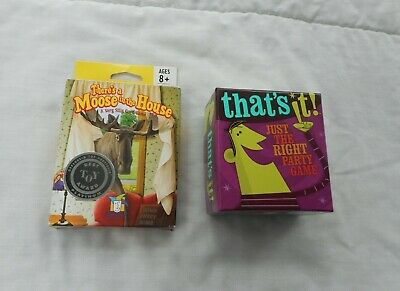 Lot 2 Gamewright Games~THERE'S A MOOSE IN THE HOUSE~THAT'S IT! PARTY GAME