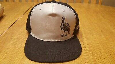Wild Turkey Whiskey Trucker Hat Vintage Snapback Cap Bourbon Tan Brown Lid