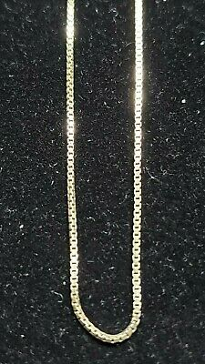 """Sterling Silver, .925     Lot  SSC-1 Gold over sterling silver  19"""" box chain"""