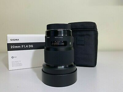 Lightly Used Sigma 20mm f/1.4 DG HSM Art Lens for Canon EF - Free Shipping