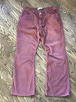 Pink Salmon Gap Womens Corduroys Jeans Pants Size 14 Ankle Flare Low Rise Nice!