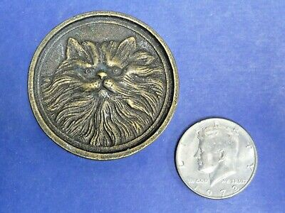 Vintage BTS Cat Belt Buckle Solid Brass