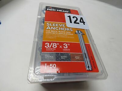 """Red Head 11281 3/8"""" x 3"""" Hex Nut Sleeve Anchors- 50 Count"""