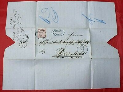 Mayfairstamps Germany 1868 Giessen Folded Cover wwd55265