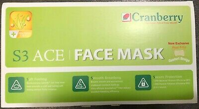 Cranberry S3 ACE Earloop Face Mask, ASTM Level 2, Blue, 3-Ply, 50/box (*S3080B)