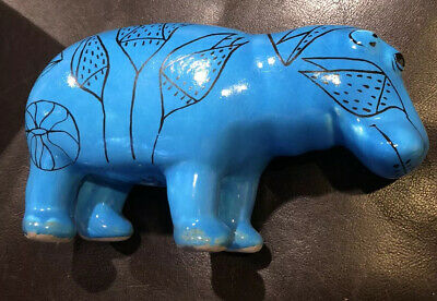 MMA Museum of Modern Art WILLIAM The HIPPO Egyptian Turquoise Blue Pottery