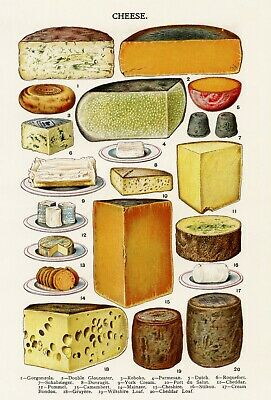 Mrs Beeton/'s Vintage Cooking Poster Salads A4//A3 Poster