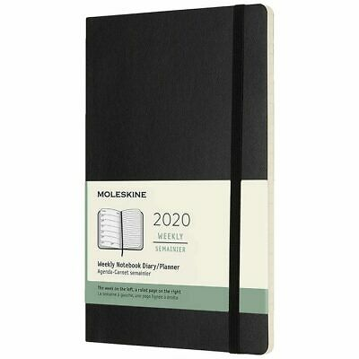 Moleskine 2020 Diary - Large - Weekly Notebook Planner - Black Soft Cover