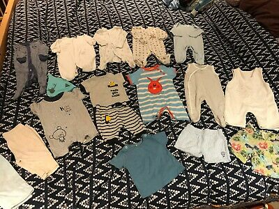 Baby Boys 0-3 Month Clothes Outfit Bundle - Frugi, NEXT, Nutmeg, M&S