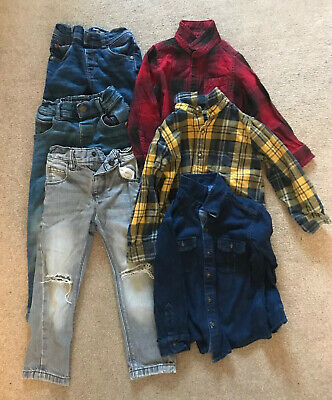 Boys Jeans And Shirt Bundle Age 2-3 (next and river Island)
